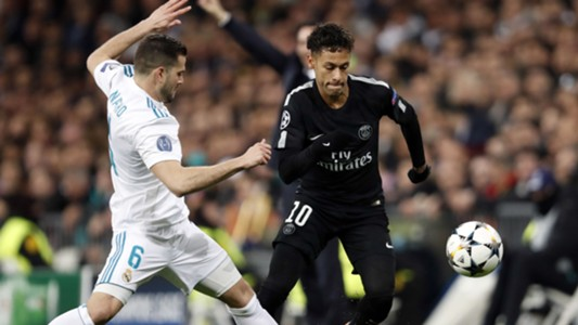 Neymar Nacho Real Madrid PSG Champions League 14022018