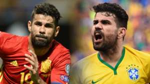 Diego Costa, Spain and Brazil