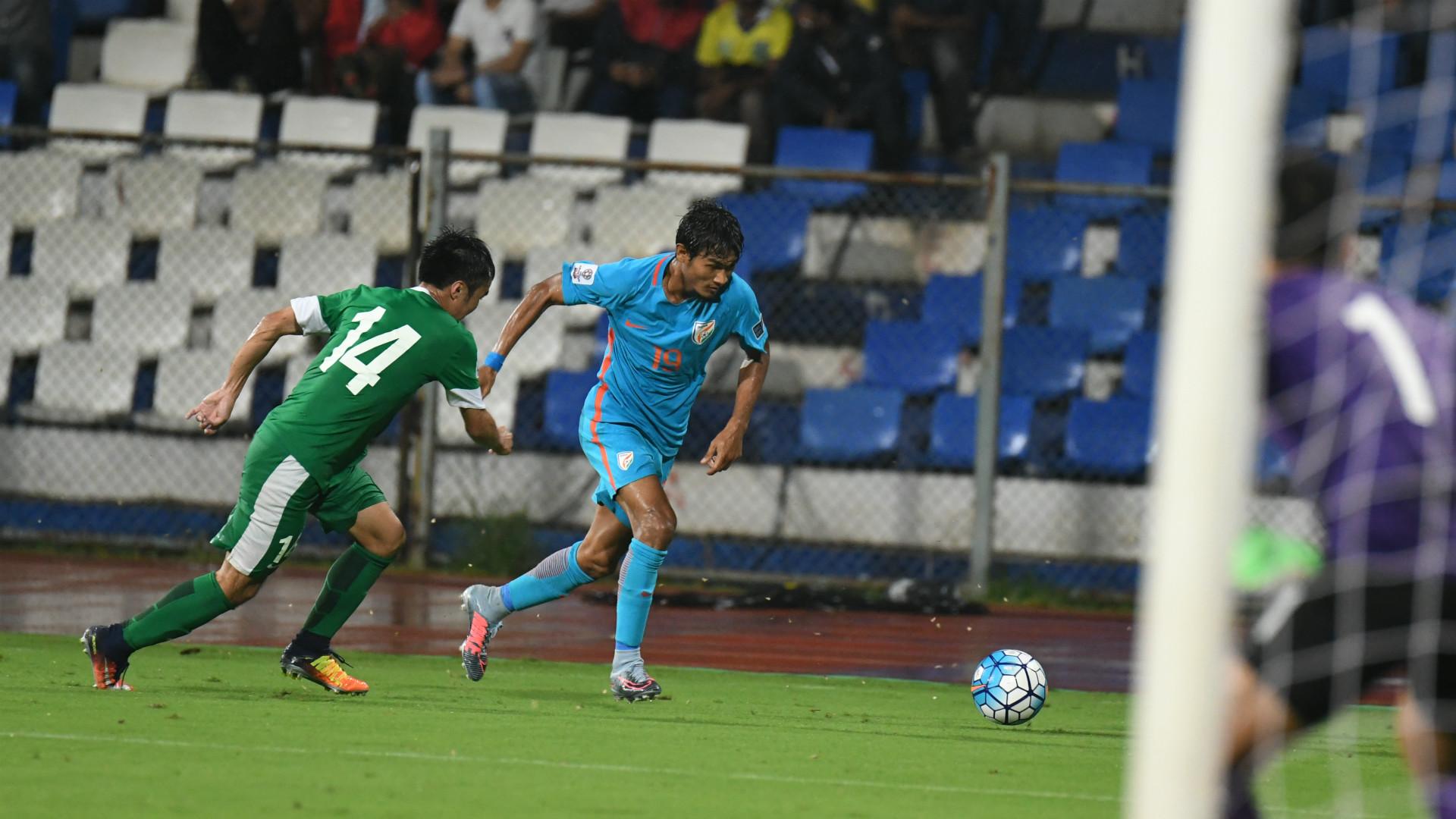 Halicharan Narzary India Macau 2019 AFC Asian Cup qualifiers