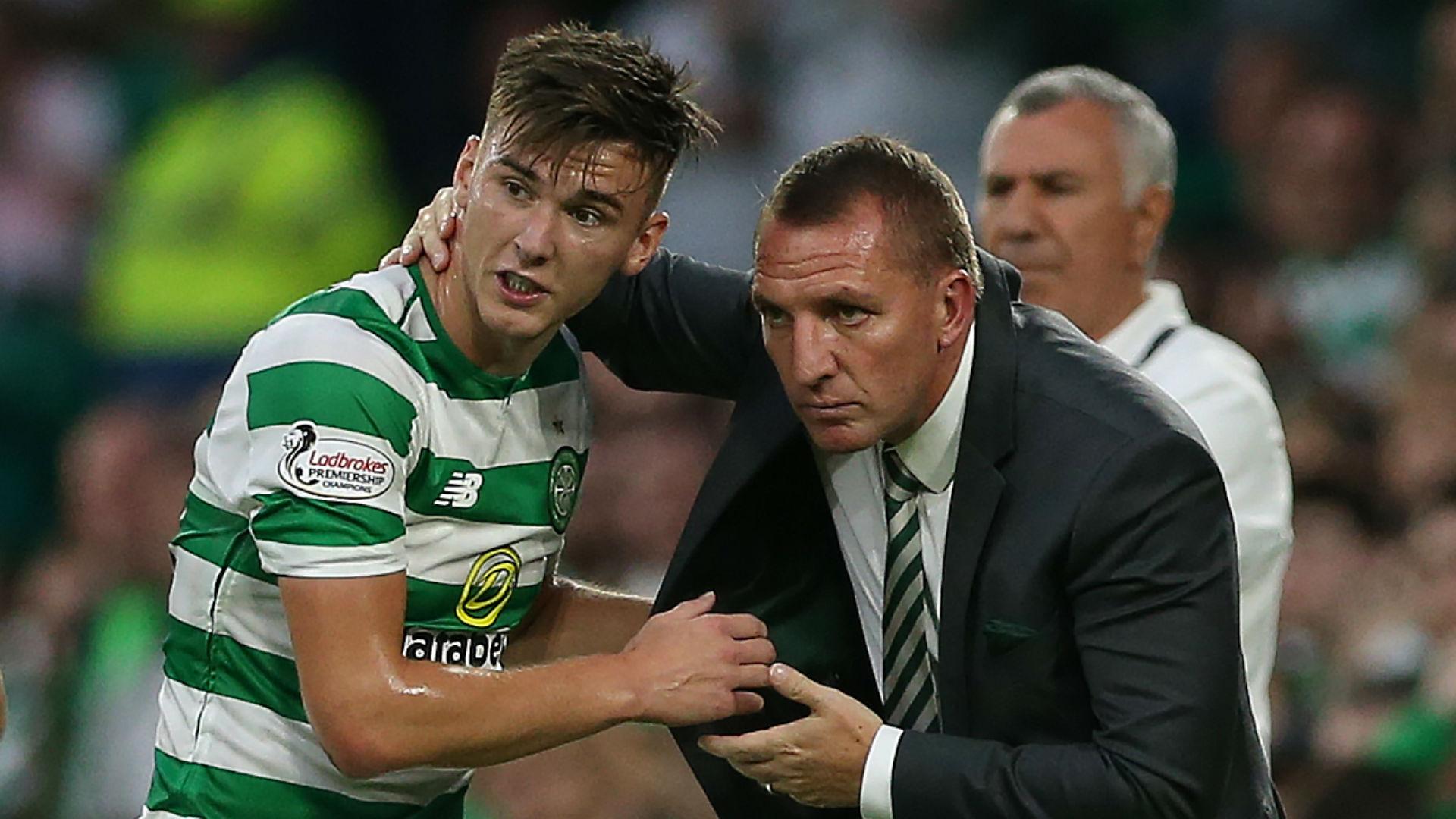 Kieran Tierney Brendan Rodgers Celtic