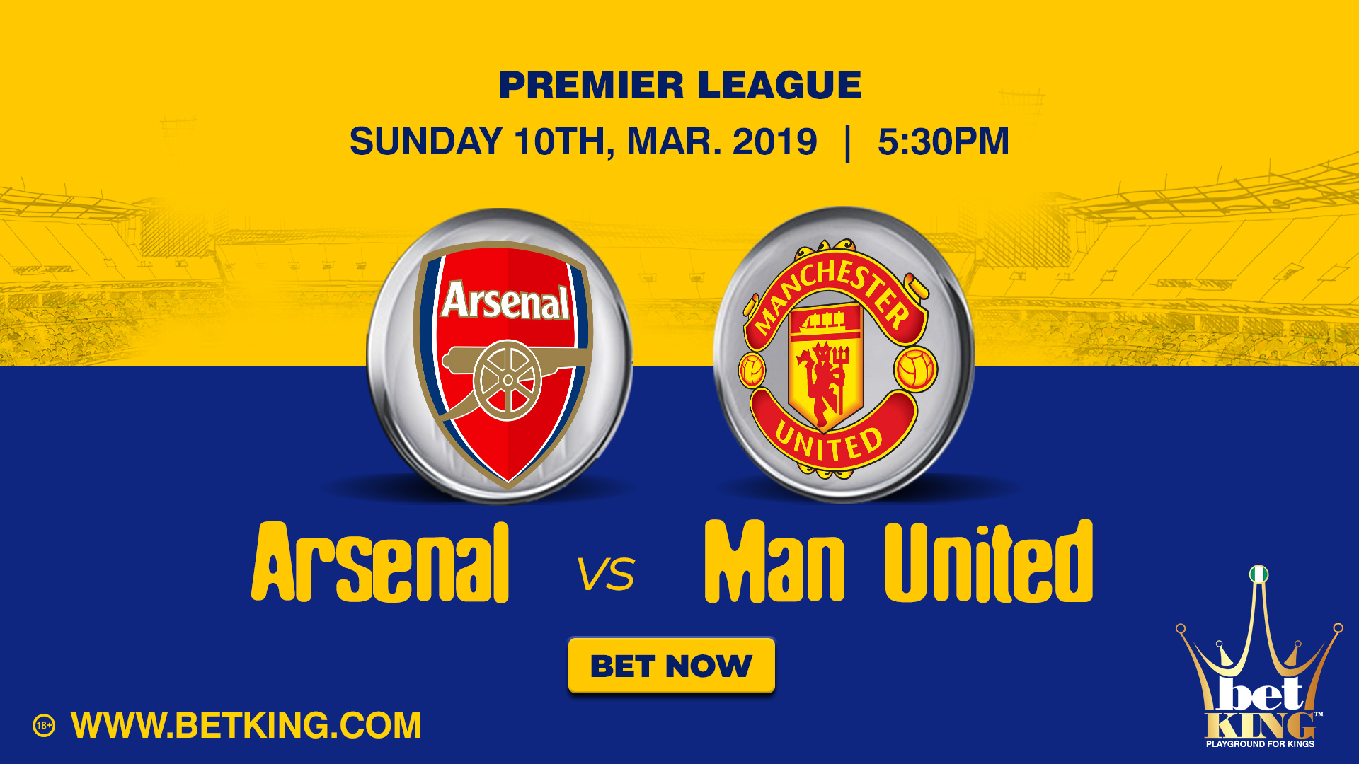 Betking Arsenal Manchester United