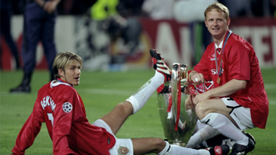 David Beckham Manchester United Champions League 1999