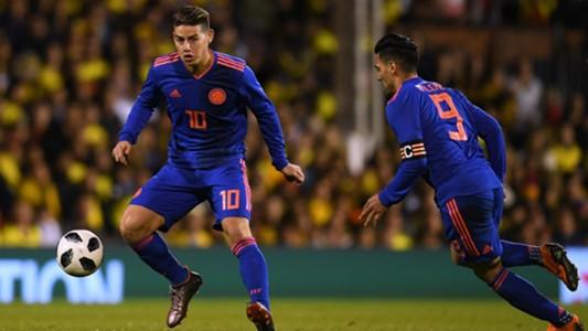 James Rodriguez Radamel Falcao Colombia 2018