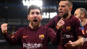 Messi Jordi Alba CHelsea Barcelona Champions League