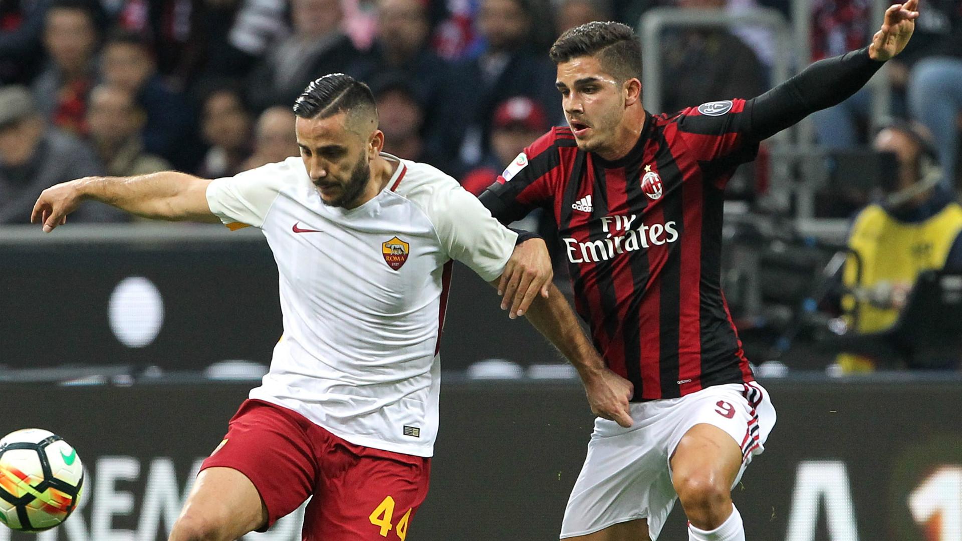 Kostas Manolas Andre Silva Roma AC Milan