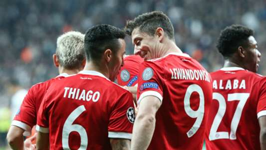 Thiago Alcantara Robert Lewandowski Bayern Munich UCL 03142018