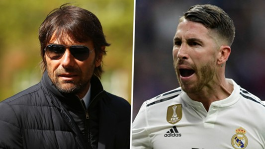 Antonio Conte and Sergio Ramos, Real Madrid