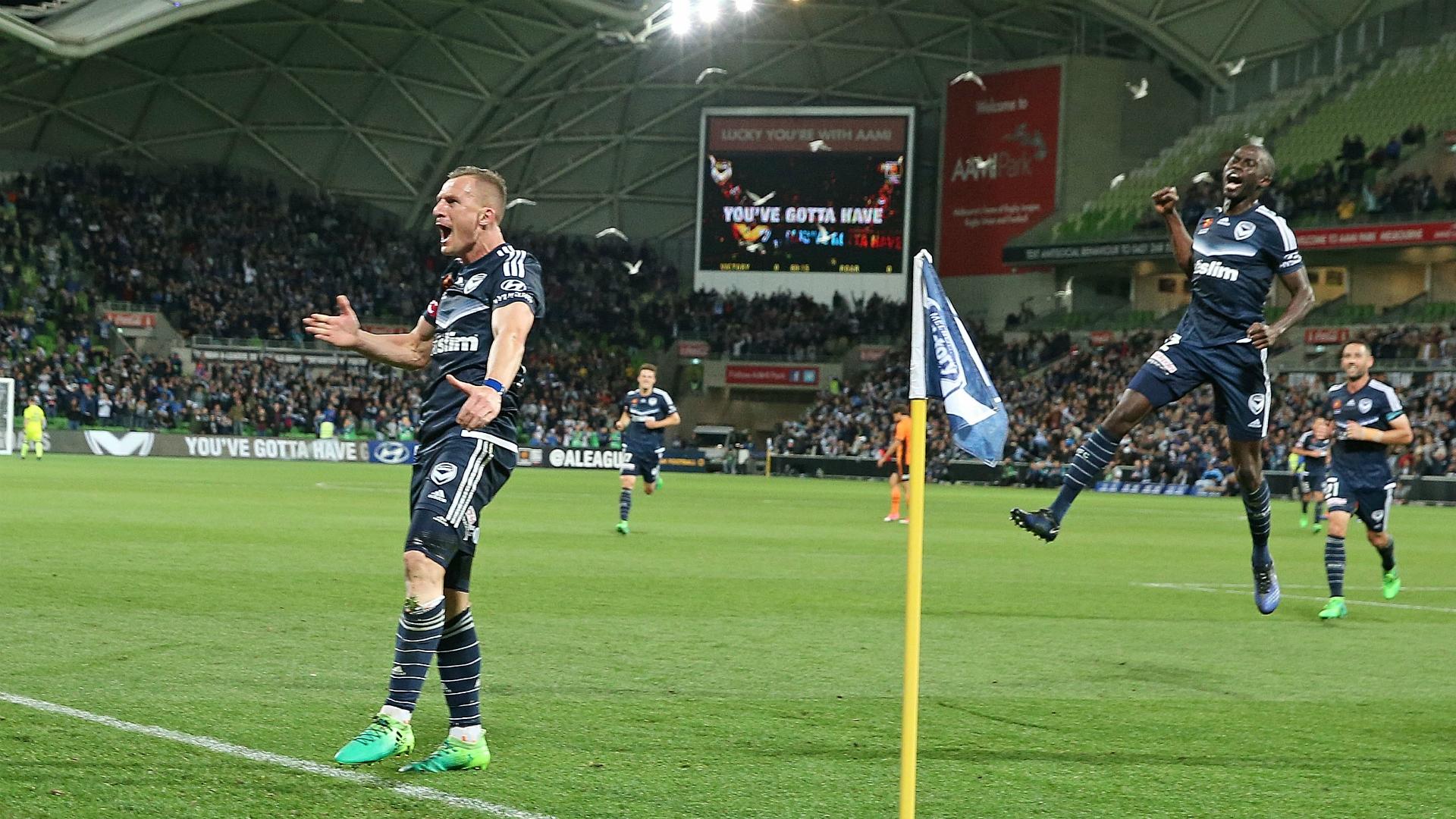 Besart Berisha Melbourne Victory v Brisbane Roar A-League 30042017