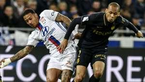 Fabinho Memphis Depay Lyon Monaco Ligue 1 23042017