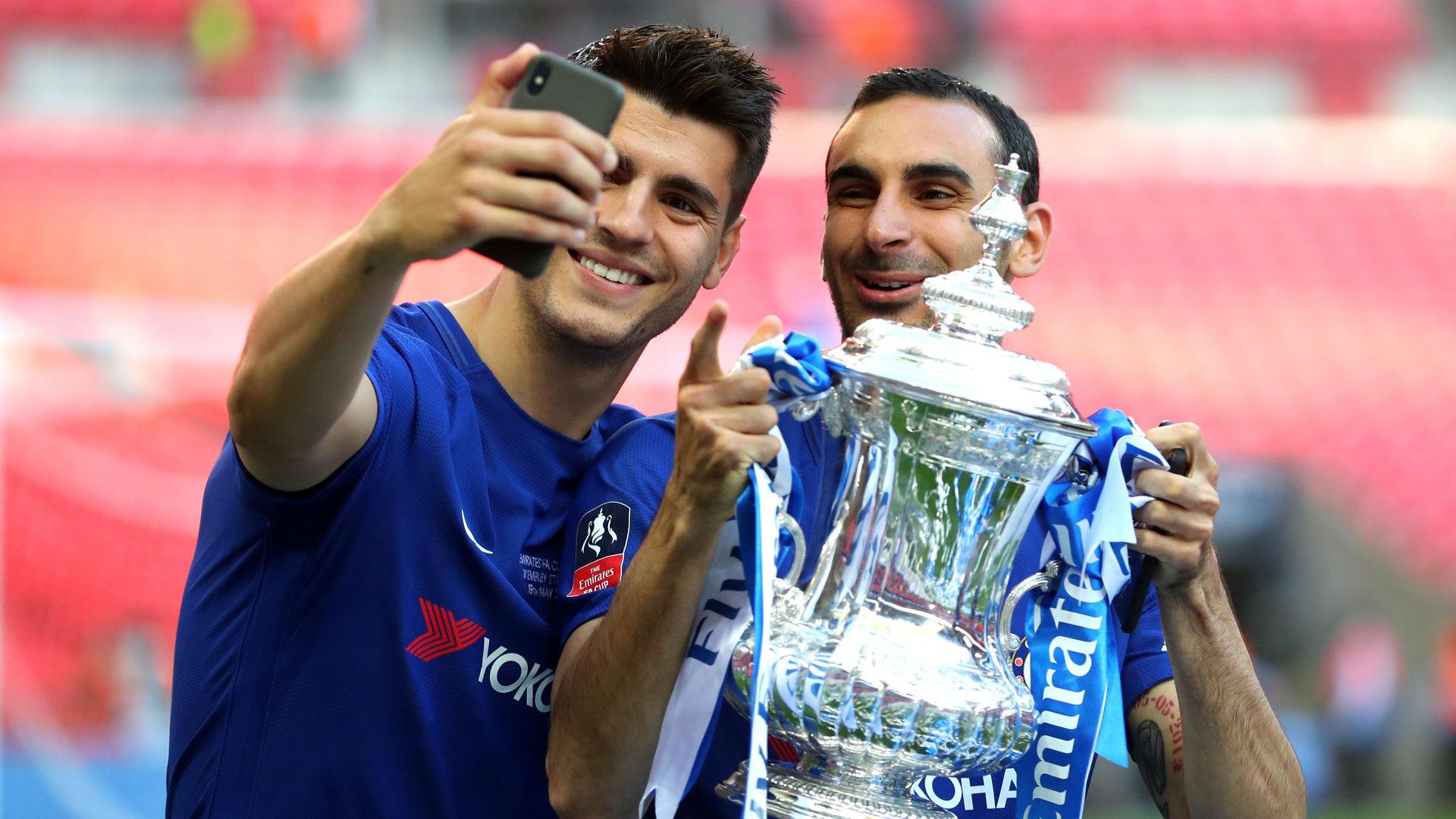 Alvaro Morata David Zappacosta Chelsea FA Cup 2018