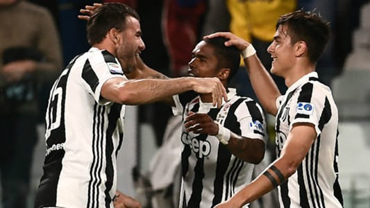 Juventus celebrating Juventus Bologna Serie A