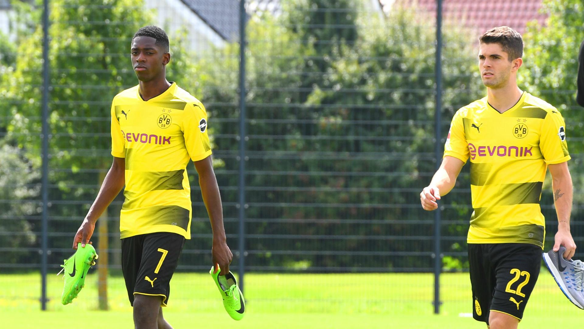 Ousmane Dembele Christian Pulisic Borussia Dortmund 09082017