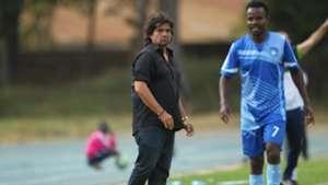 Rodolfo Zapata of AFC Leopards and Timonah Wanyonyi of Nakumatt.