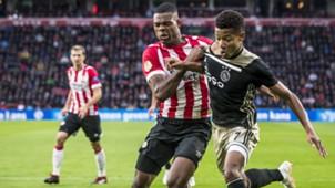 Denzel Dumfries David Neres PSV - Ajax Eredivisie 09232018