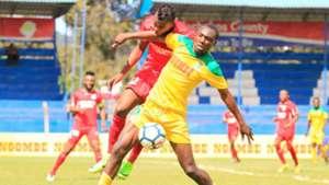 Clifford Alwanga of Mathare United v Bandari.