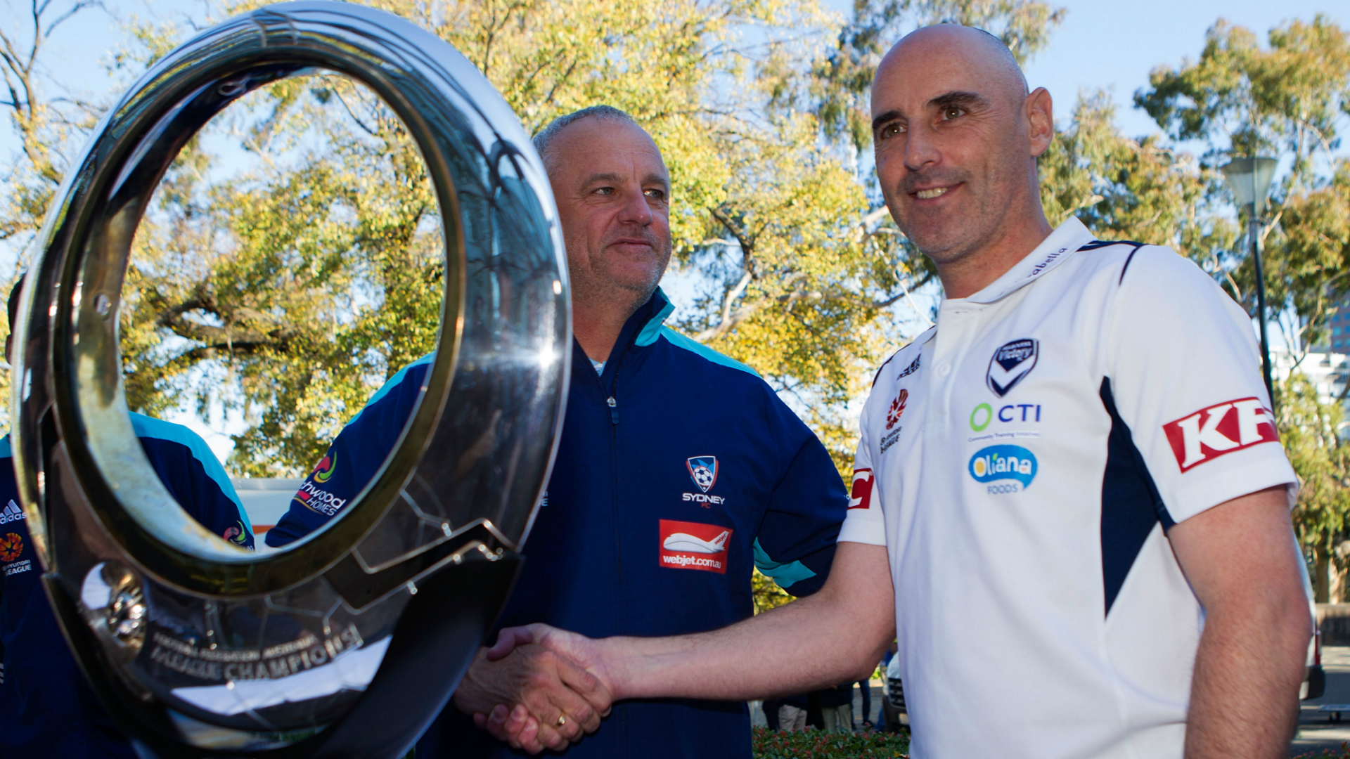 Graham Arnold and Kevin Muscat
