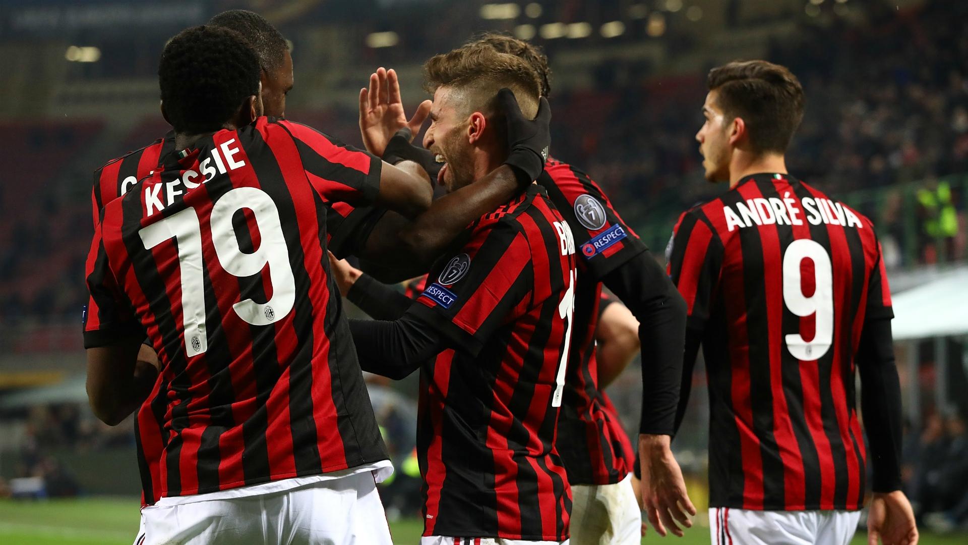 Milan celebrating Milan Ludogorets UEFA Europa League 02222018