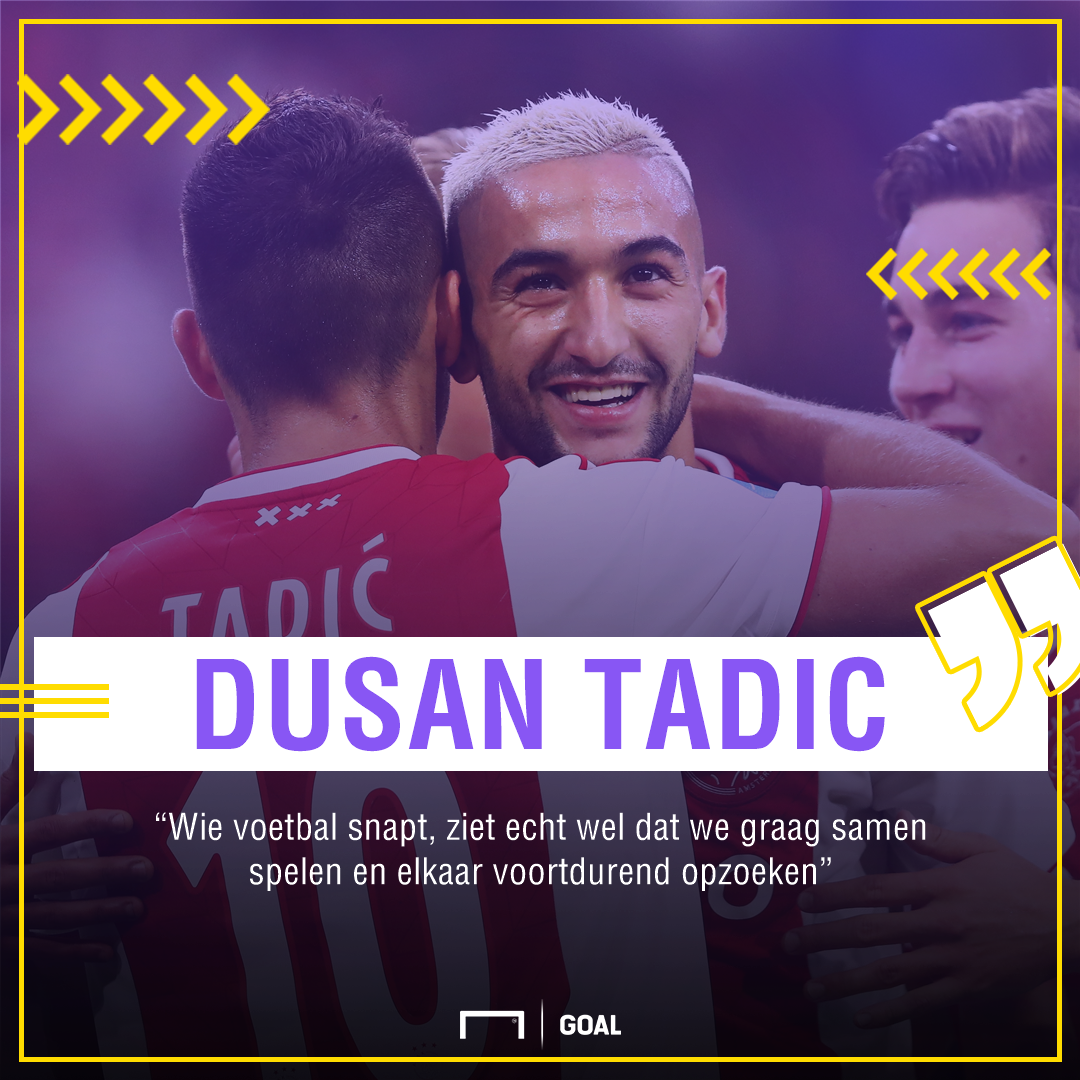 Tadic over Ziyech Quote