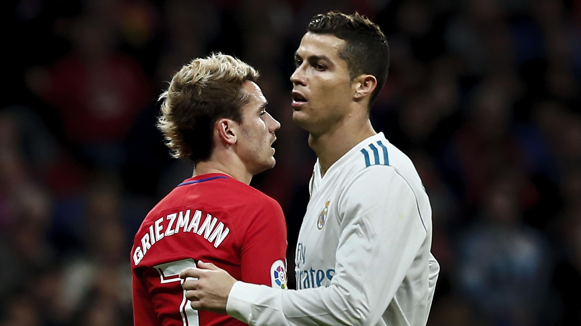 Cristiano Ronaldo Antoine Griezmann Atletico Madrid Real Madrid