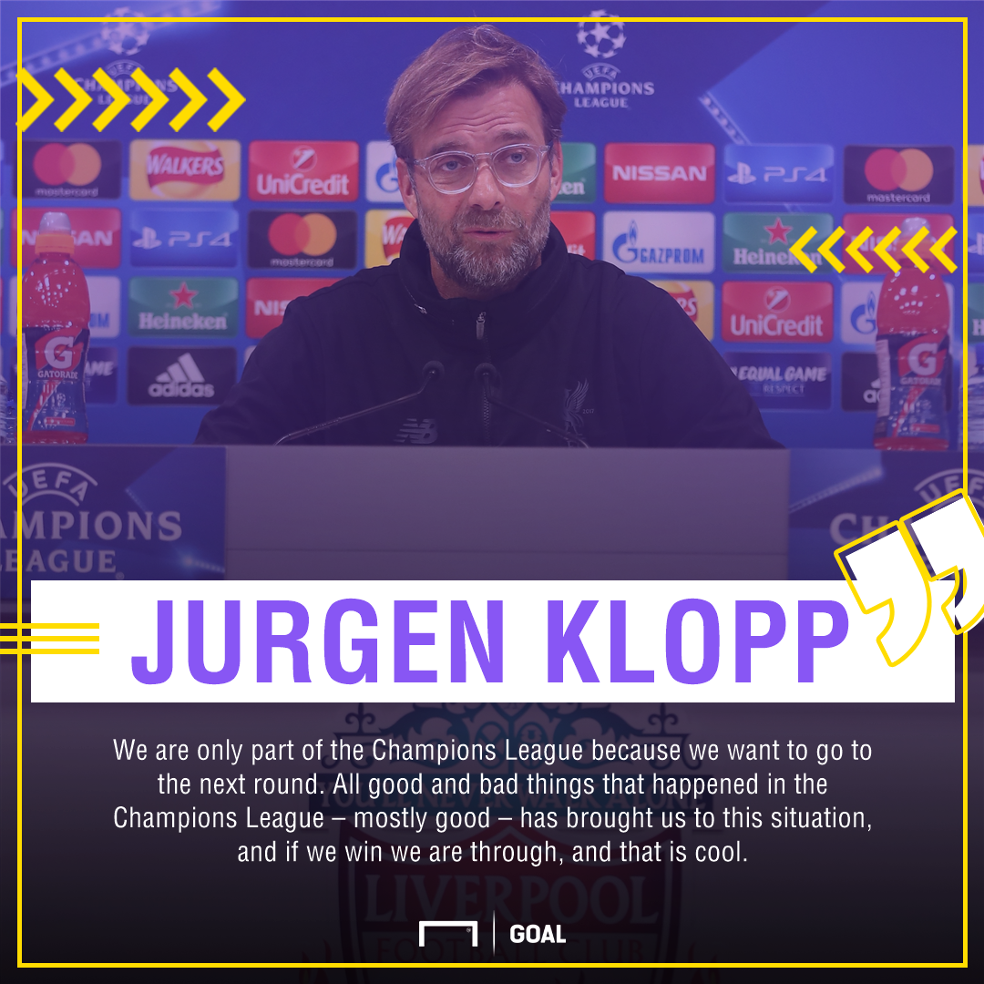 GFX Jurgen Klopp Liverpool quote v Spartak