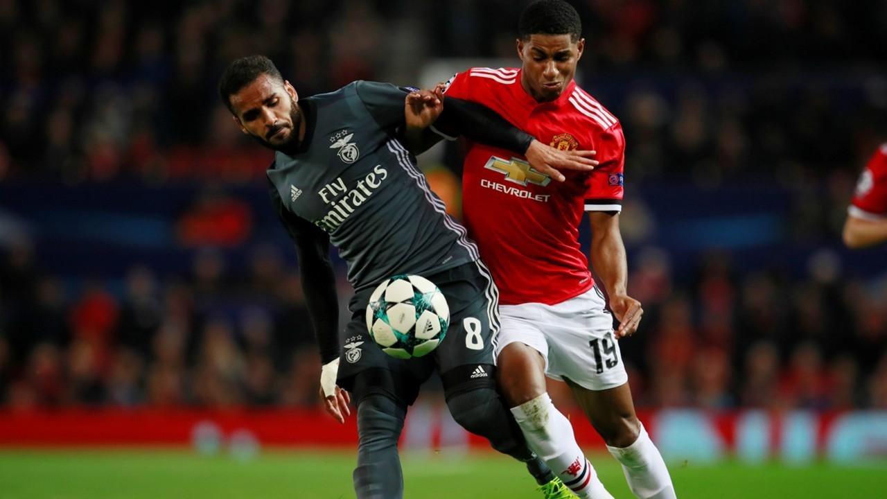 Douglas, Marcus Rashford, Manchester United - Benfica 10312017