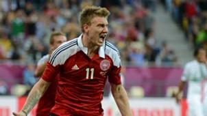 Nicklas Bendtner Denmark v Portugal Euro 2012 13062012