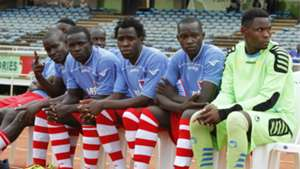Palos FC players on bench against Gor Mahia.