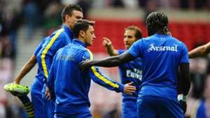 Mesut Ozil first match Arsenal