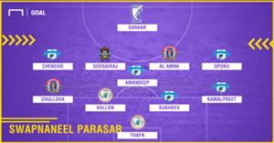 GFX Swapnaneel Parasar I-League 2017-18 Team of the Season