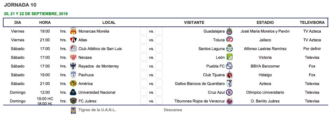 Calendario 2020 Liga Adelante.Cual Es El Calendario Del Apertura 2019 De La Liga Mx Goal Com