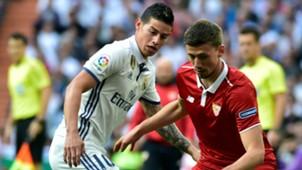 James Rodriguez Clement Lenglet Real Madrid Sevilla LaLiga 14052017