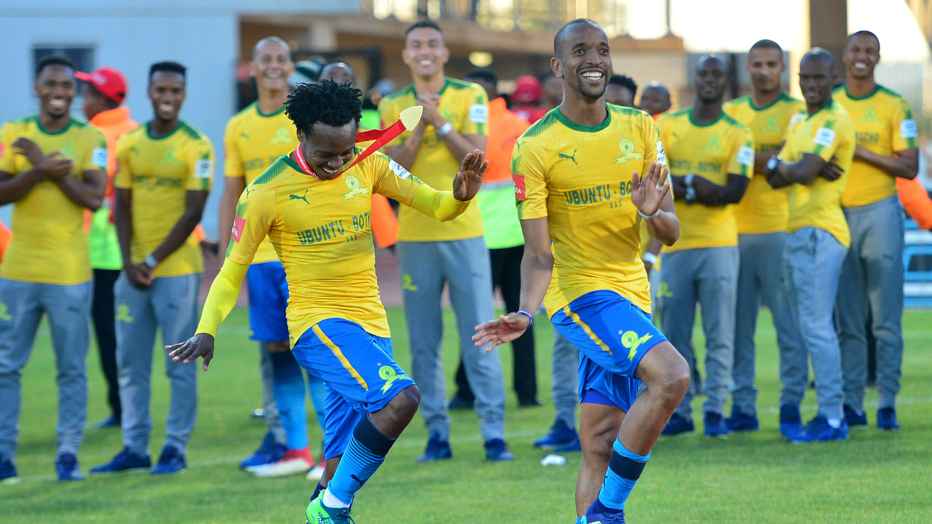 Percy Tau & Tiyani Mabunda Mamelodi Sundowns May 2018
