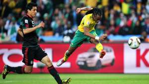 Siphiwe Tshabalala scores against Mexico in 2010
