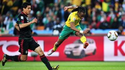 Siphiwe Tshabalala scores against Mexico in 2010