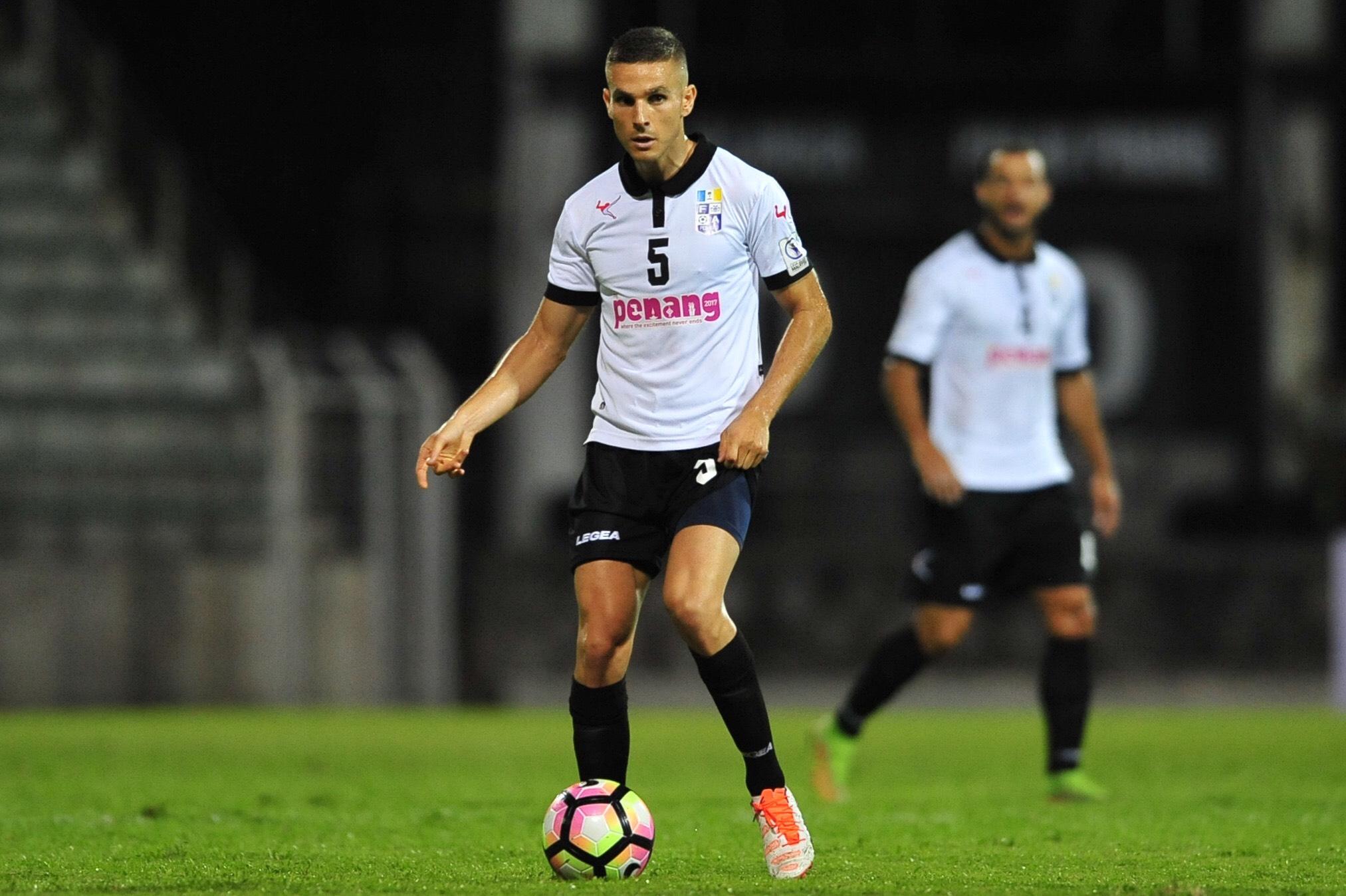 Pulau Pinang's Diogo Ferreira playing against Selangor 21/1/2017