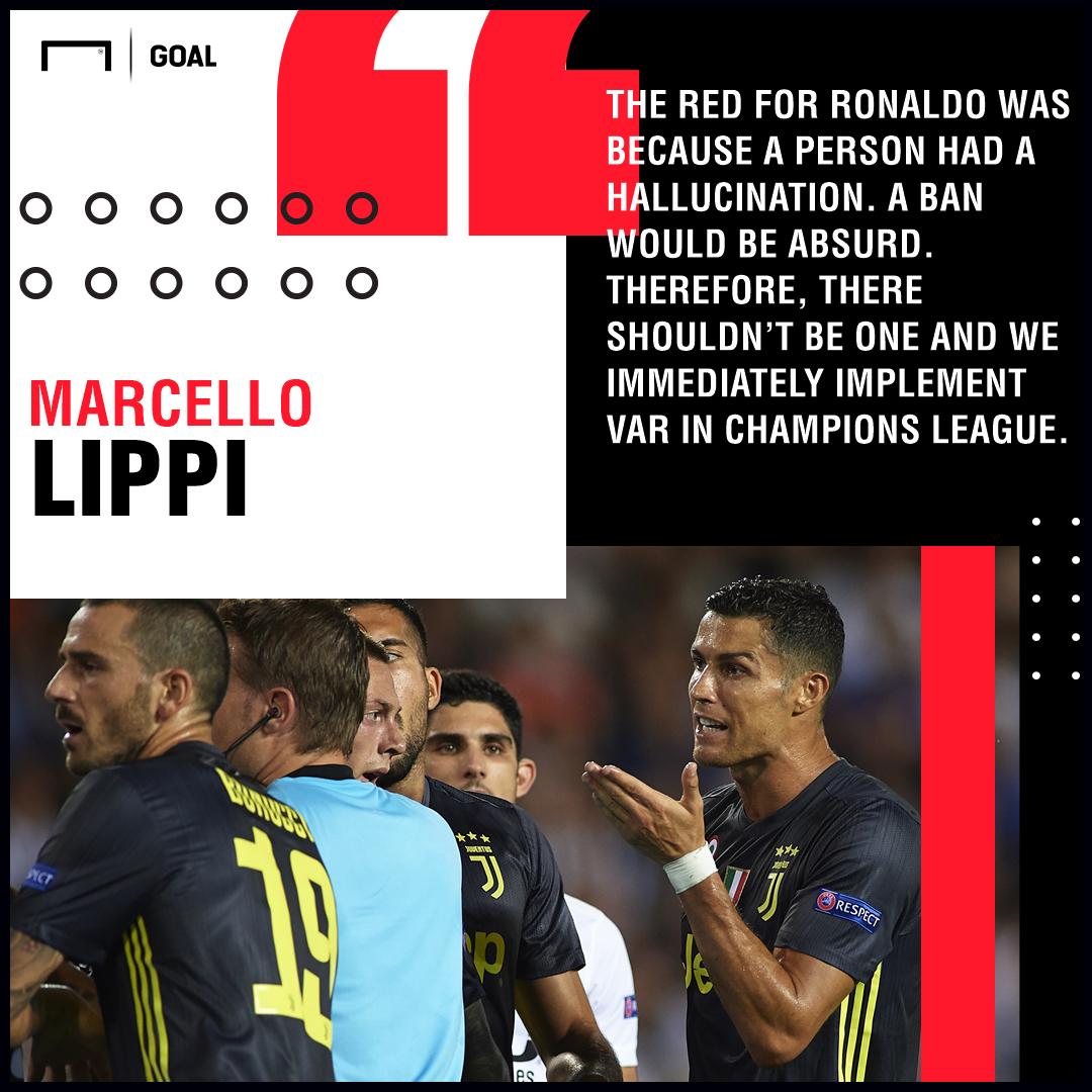 Cristiano Ronaldo red card hallucination Marcello Lippi