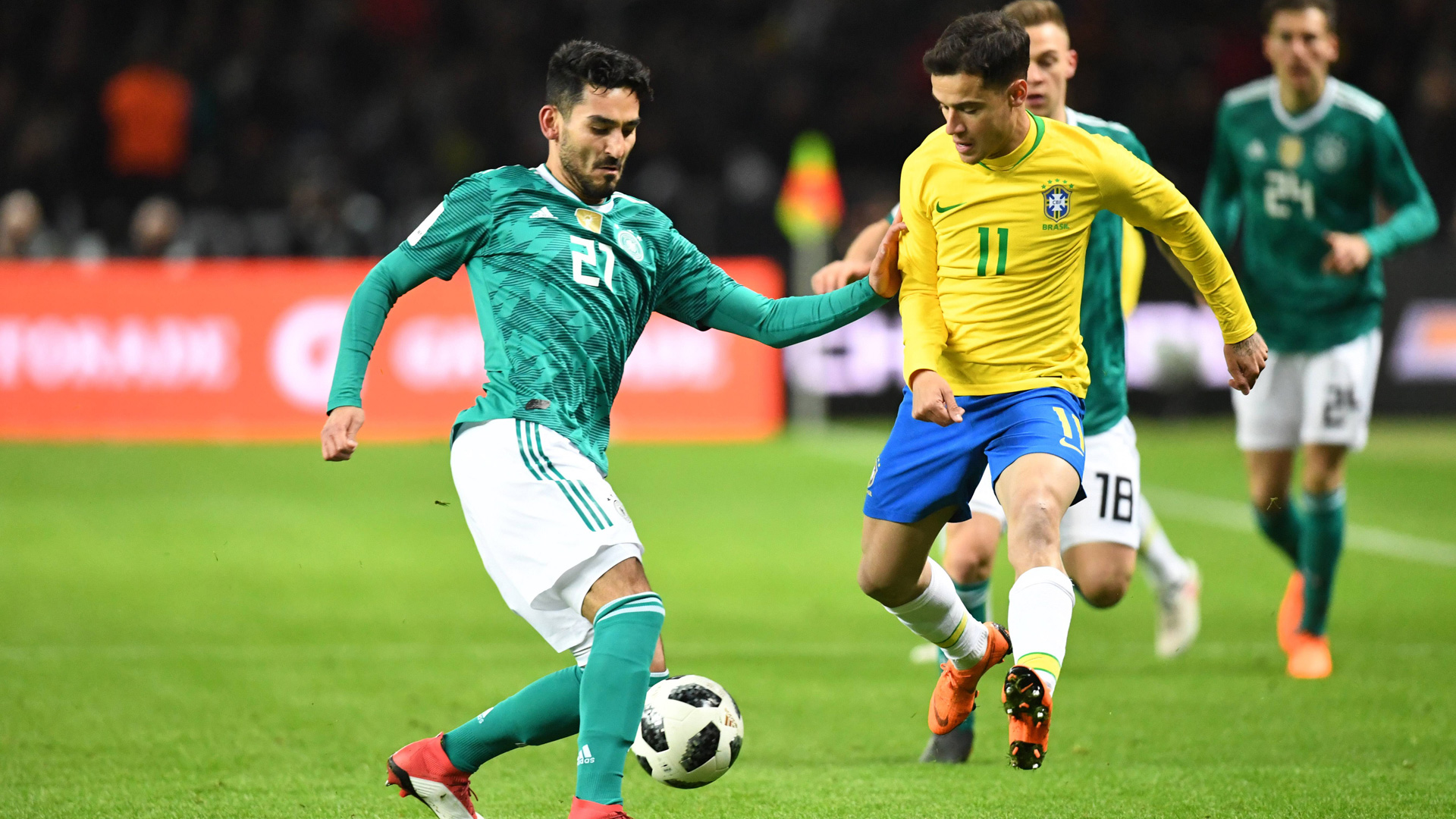 ONLY GERMANY Ilkay Gündogan Philippe Coutinho Deutschland Brasilien 27032018