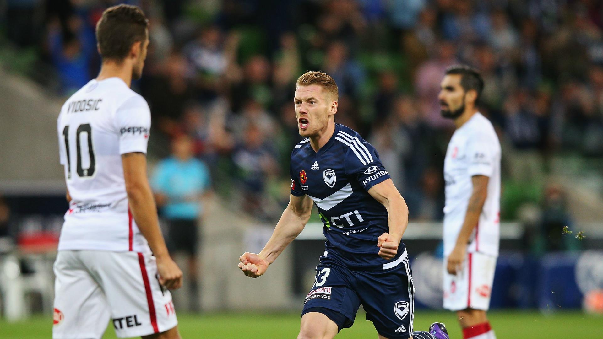Oliver Bozanic Melbourne Victory v Western Sydney Wanderers