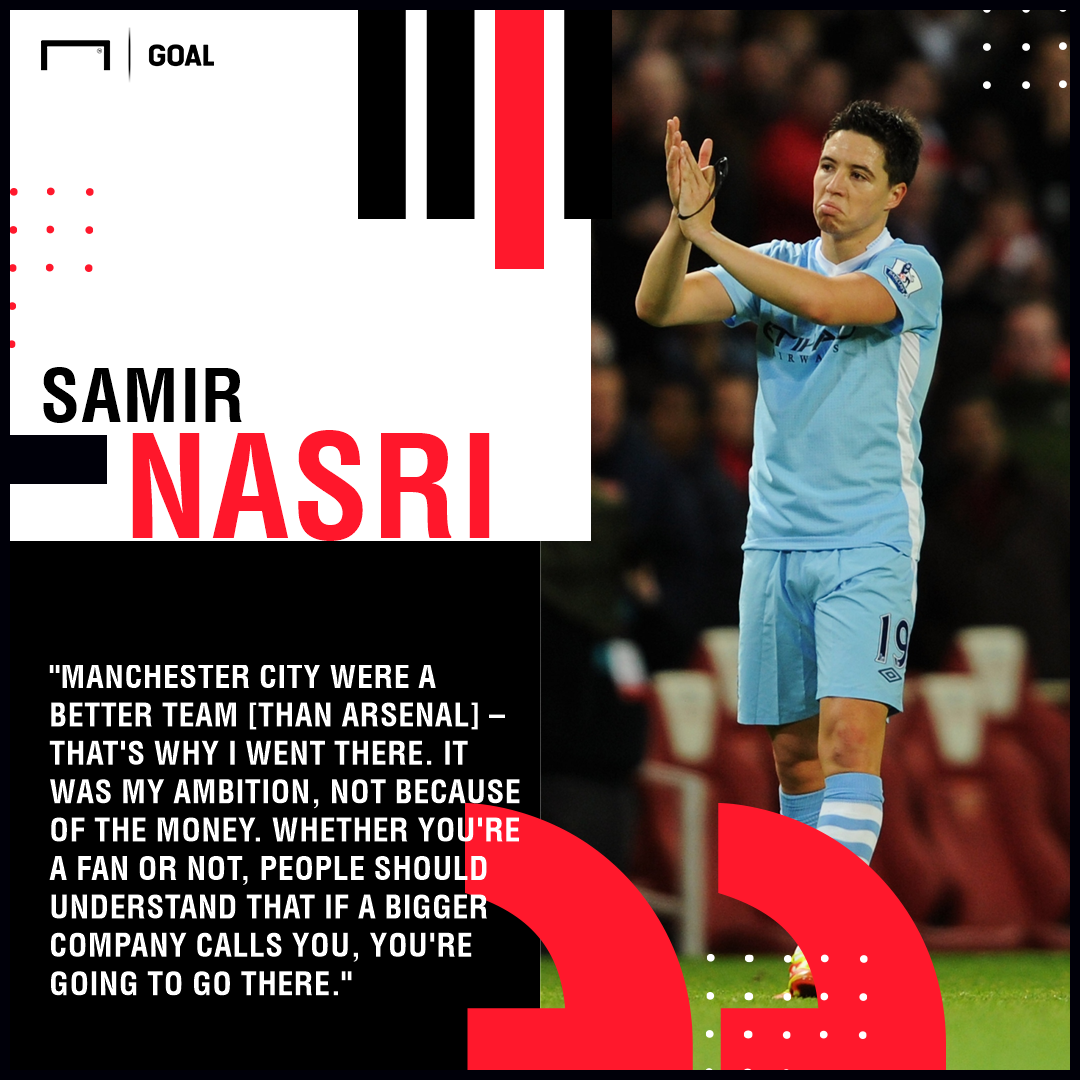 Samir Nasri Man City Arsenal PS