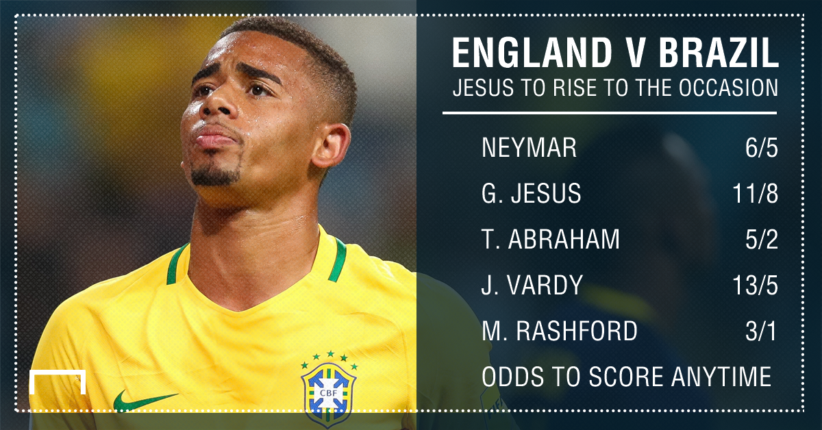 England Brazil goalscorer graphic