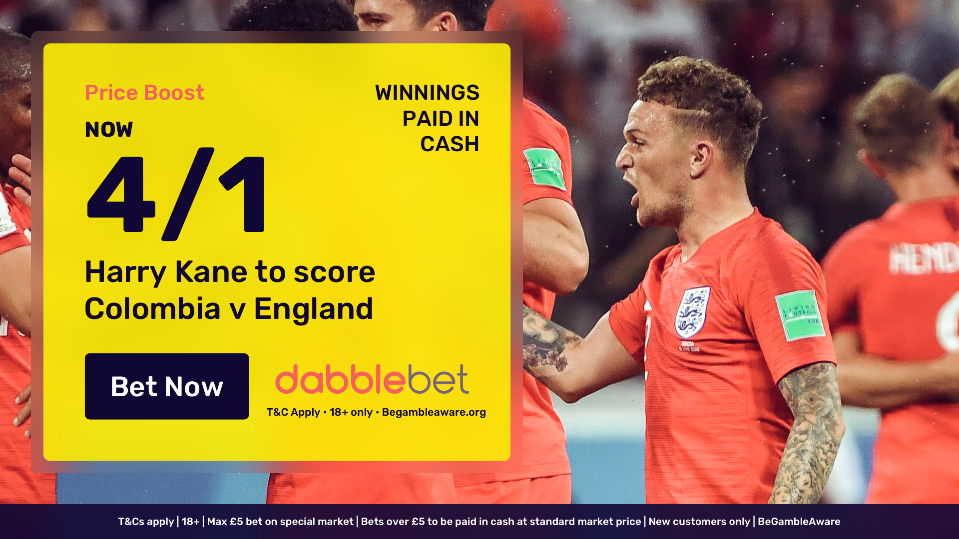 dabblebet new customer offer Harry Kane 4/1
