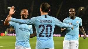 Bernardo Silva Raheem Sterling Benjamin Mendy Manchester City Shakhtar Donetsk 231018