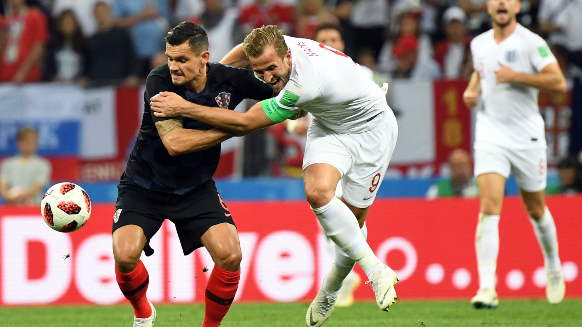 croatia england - dejan lovren harry kane - world cup - 11072018