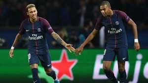 Neymar Kylian Mbappe PSG Bayern UEFA Champions League 27092017