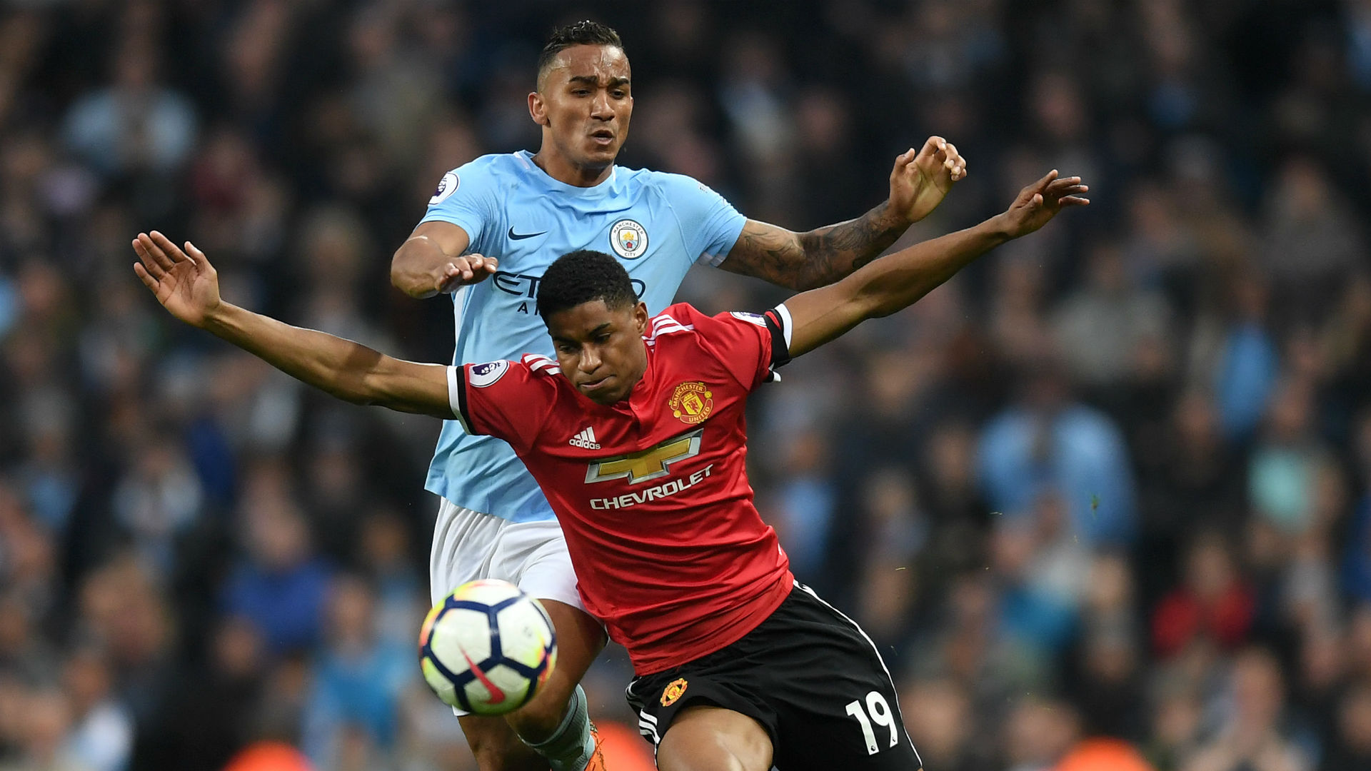 Marcus Rashford Danilo Manchester City Manchester United Premier League
