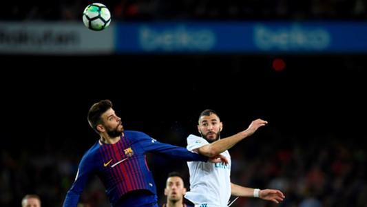 Gerard Pique Karim Benzema Barcelona Real Madrid El Clasico LaLiga 06052018
