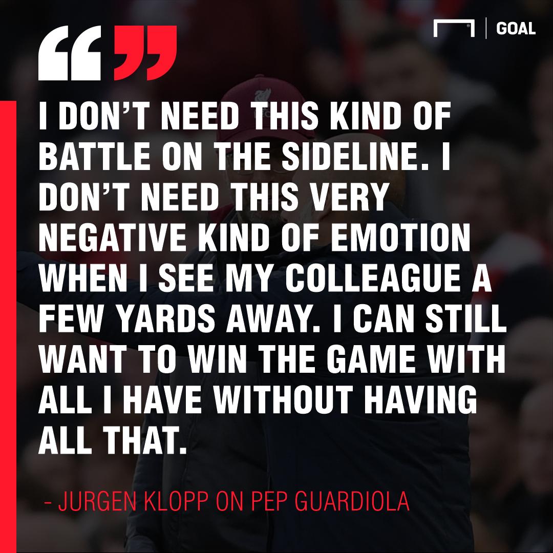Jurgen Klopp on Pep Guardiola 2019