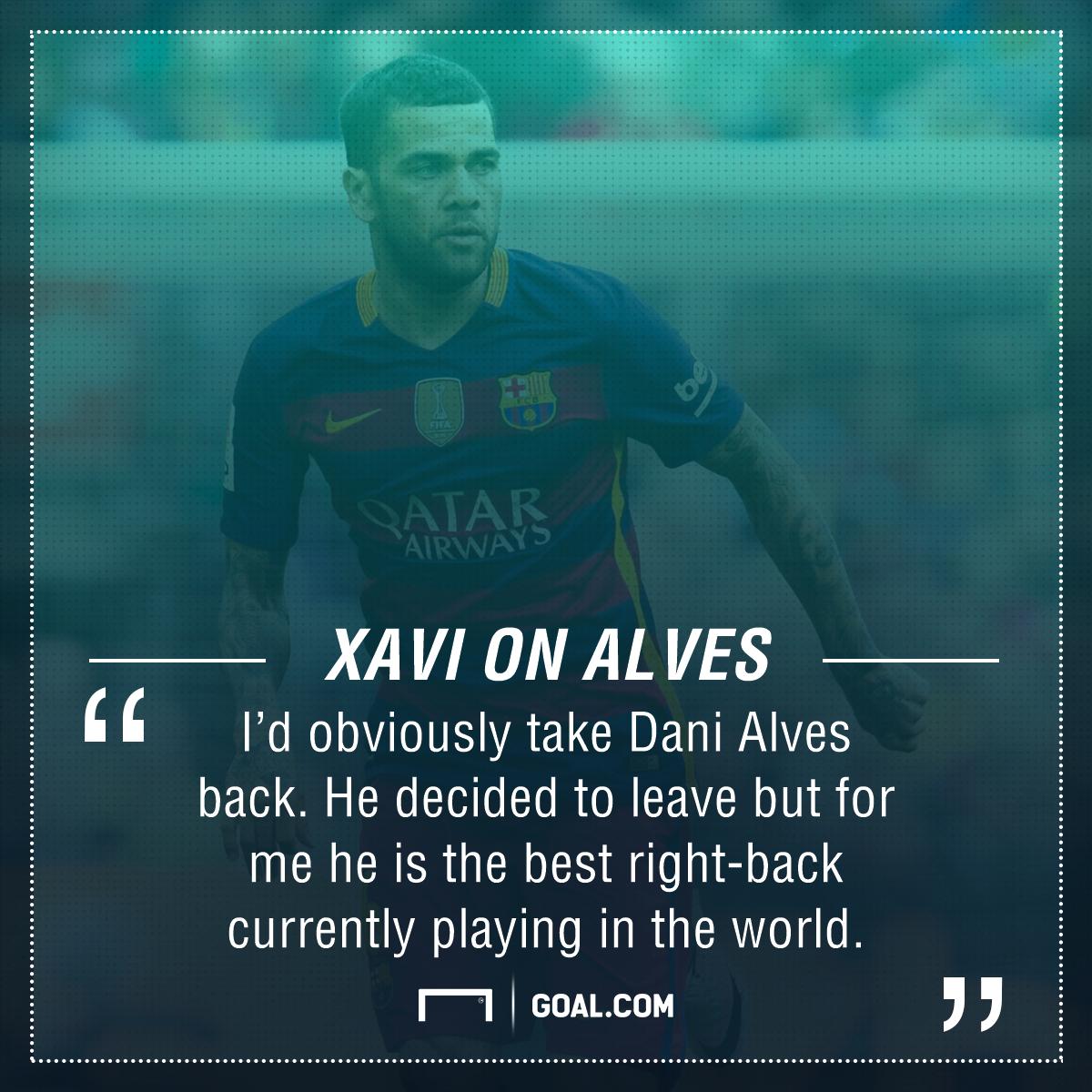 Xavi Dani Alves Barcelona