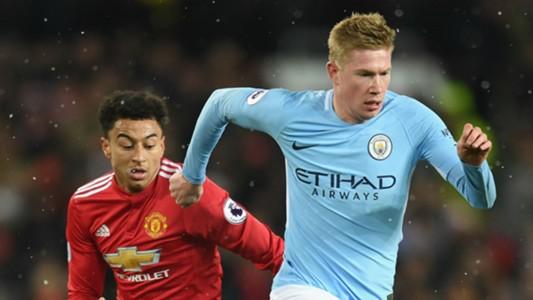 Jesse Lingard Manchester United Kevin De Bruyne Manchester City