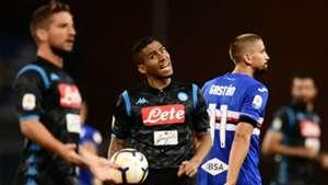 Dries Mertens Allan Sampdoria Napoli Serie A